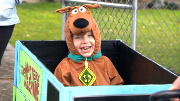 A B.C. father has pulled out all the stops this year so that his young son will feel included in Halloween festivities despite his health-related mobility ...  sc 1 st  24News.ca & B.C. dad builds elaborate Halloween costumes for son with mobility ...